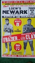 Poster Muhammad Ali/Joe Frazier fight