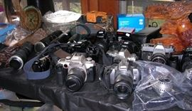 35mm cameras, some digital cameras, lenses, filters, more