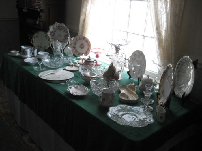 Limoges, China, Cut Glass, etc.