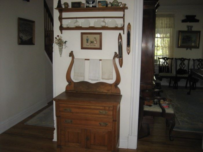 Oak Washstand with Towel Bar (Key East from the Avon Inn)