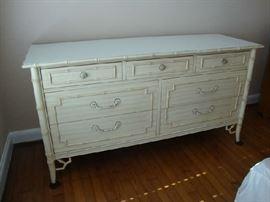White Bamboo Dresser by Thomasville