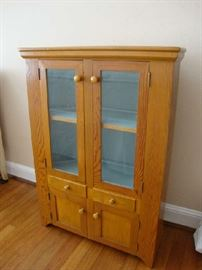 Child Size Custom made Cabinet.  Made in 1954 by Esler Crosson.  His son Joe Crosson was a famous Alaskan Bush Pilot