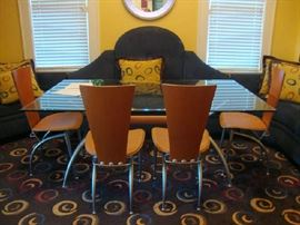 Glass Dining Table with four Chairs