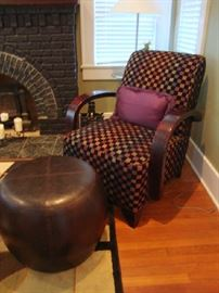 Retro Armchair and Ottoman