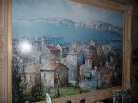 Large Lucien Delarue painting