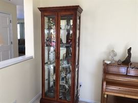 Tall Lighted Curio Cabinet