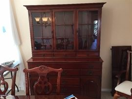 1950's Cherry Hutch - Purchased at Marshall Fields Chicago