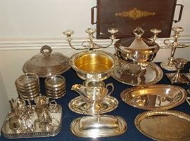 Silver plate and sterling