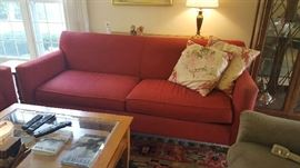 Crate & Barrel Red sofa  $100   SOLD