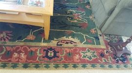Burgandy/red/ green rug  $100  SOLD