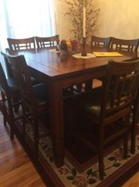 Beautiful tall dining table with built in extension