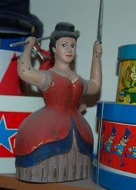 Patriotic Wooden Lady Doll