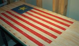 Patriotic Flag Table