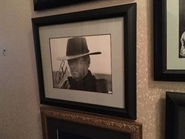 Signed Clint Eastwood Autographed Custom Framed Picture
