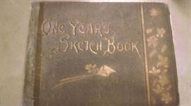 1889 ONE YEARS SKETCH BOOK