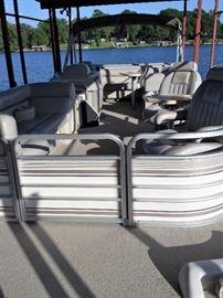 front of pontoon