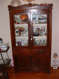 Faux grain hutch/cabinet