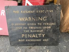 Railroad Executive sign