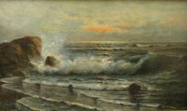 Nels Hagerup (1864-1922, Norwegian/American) Seascape