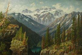 Leroy Updyke (1876-1959, Washington Artist) Landscape
