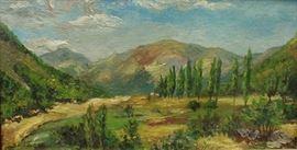 Benjamin Chambers Brown (1865-1942, California Impressionist Landscape artist.