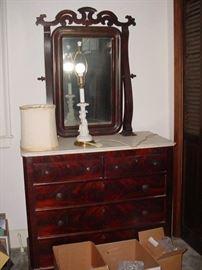 another beautiful antique dresser & mirror