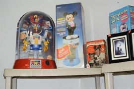 Electronic Robot Store Display, Mickey 60th Anniversary Gumball, Mouseketeers Newsreel,  Tasmanian Devil, Bug Fossil Watches