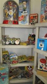Mousekeeters more, Robot, Mickey Gum Ball, Disney Clocks, Mickey Lights, Games, Toy Cars, Donald Duck, More