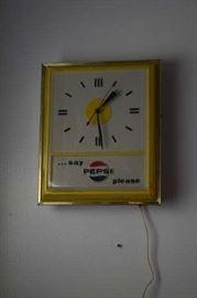 Pepsi Clock-Say Pepsi Please 1970's
