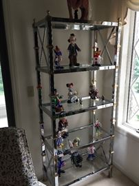 Curio shelf w/clown collection