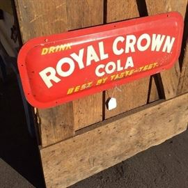 "Approx 22"" Painted Royal Crown Sign Very Rare"