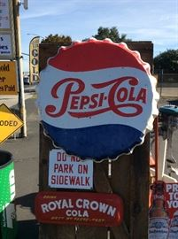 "36"" Pepsi Button by Stout company dated 03-1961"