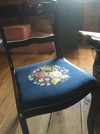 Beautiful embroidered chair
