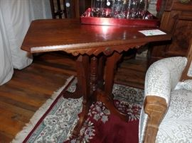 Eastlake Victorian period Black walnut parlor table-circa 1875