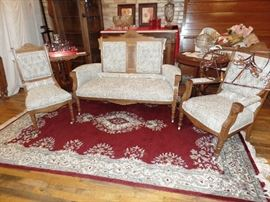 Three-piece Eastlake Victorian Parlor set- circa 1870s, Beautiful!
