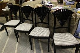 Black lacquer chairs