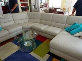 white leather couch (not table)