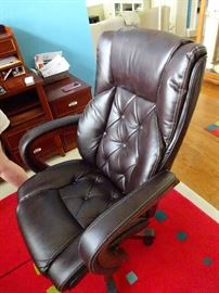 desk chair brown leather