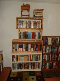 Bookcases (other than built-ins) are also for sale.