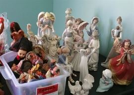 Lladros and other porcelain figurines