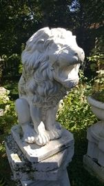 Gorgeous Yard Decor. Cement Lion Statue