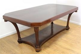 """This French Art Deco Walnut Dining Room Table will handle all your dining needs. The table is approx. 29 1/2"""" H x 42 1/2"""" W x 75 1/2"""" L."""