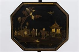 """This pair of intricate Chinoiserie Standing Screens are approximately 60"""" high."""