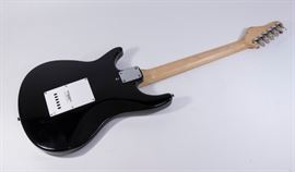 A Behringer Electric Guitar is up for bid and includes black zippered canvas bag.
