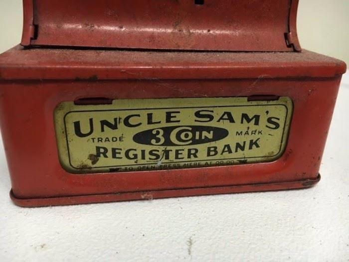 ORIGINAL ANTIQUE CASH REGISTER PIGGY BANK