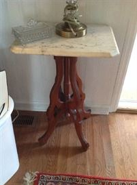 Marble top accent table $ 80.00