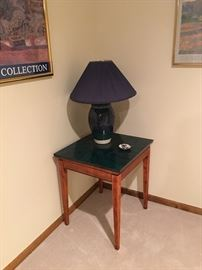 Rotating End Table, Lamp