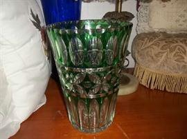 stunning crystal vase
