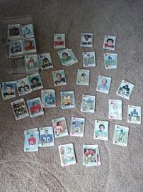 A small selection of trading cards from all sports - mostly football 1972