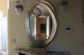 Oval Silver Mirror